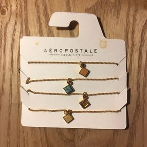 aeropostale stone bracelet set